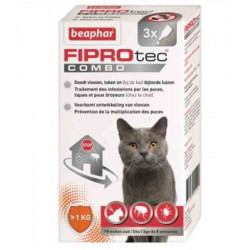 FIPROTEC COMBO CHAT FURET - BEAPHAR 3 PIPETTES