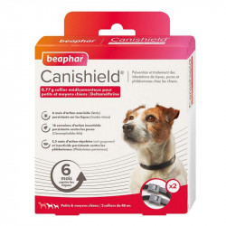 CANISHIELD PETITS MOYENS CHIENS - BEAPHAR COLLIER X2