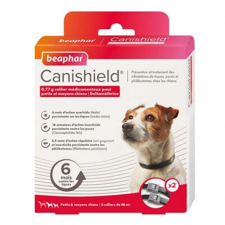 CANISHIELD PETITS MOYENS CHIENS - BEAPHAR COLLIER X2