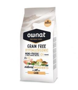 OWNAT Grain Free Hyppoallergenic à l'Agneau 14kg