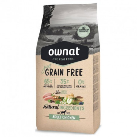 OWNAT Just Grain Free Adulte au Poulet 14 kg
