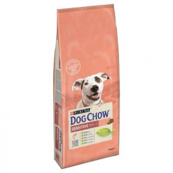 DOG CHOW SENSITIVE CHIEN ADULTE AU SAUMON 14 KG