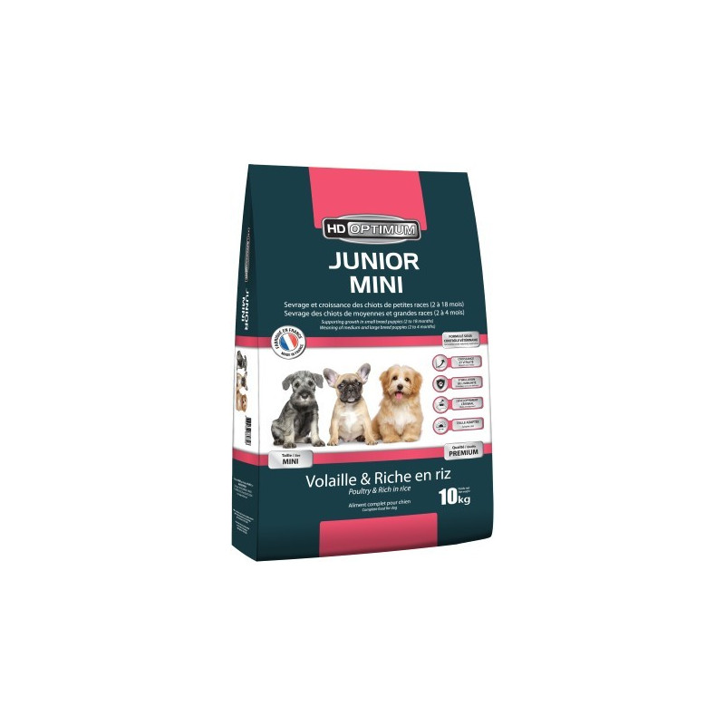 Croquettes chiens HD OPTIMUM JUNIOR MINI 10KG