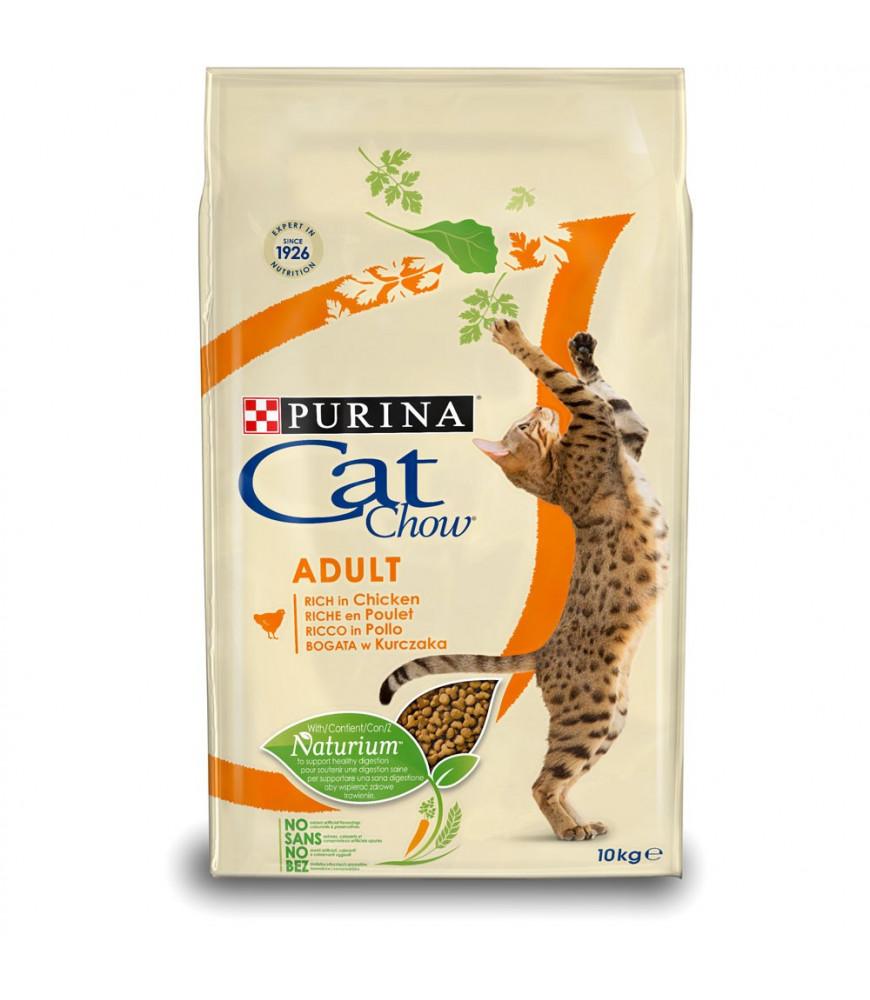 CAT CHOW ADULT riche en poulet 10kg