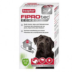 FIPROTEC COMBO GRANDS CHIENS - BEAPHAR 3 PIPETTES