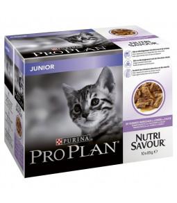 PRO PLAN Nutrisavour Junior à la Dinde en sauce 10x85g