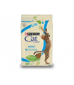 CAT CHOW ADULT riche en saumon 3kg