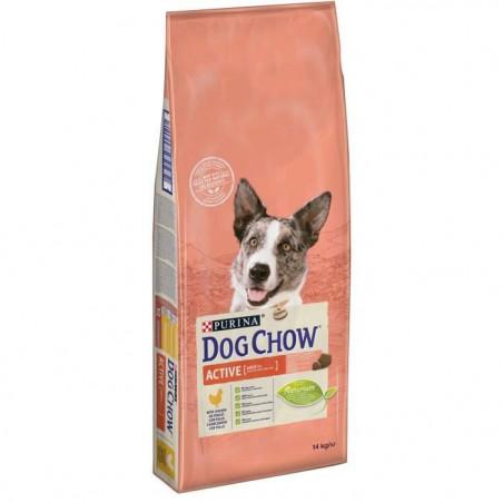 DOG CHOW CHIEN ADULTE ACTIF AVEC DU POULET 14 KG