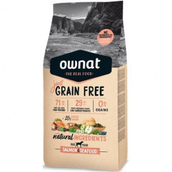 OWNAT Just Grain Free Adulte Saumon et fruits de mer 14 kg