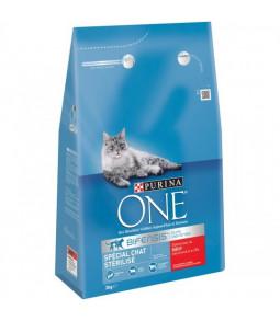 PURINA ONE  BIFENSIS 3 kg Spécial Chat Stérilisé : avec du Bœuf et du Blé