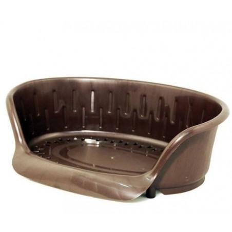 Corbeille en plastique 78x55 cm couleur Marron