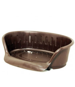Corbeille en plastique 93x67 cm couleur Marron