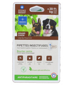 PIPETTES INSECTIFUGES GRANDS CHIENS - DEMAVIC 2 PIPETTES