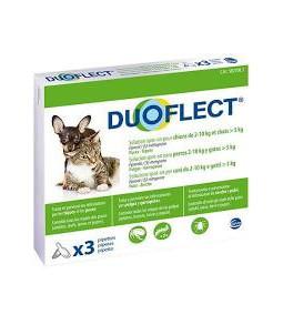 Duoflect CHIENS 2-10kg / CHATS dessous 5kg PIPETTES PUCES/TIQUES