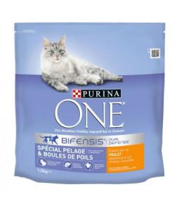 PURINA ONE  BIFENSIS  1,5 kg Spécial Pelage & Boules de Poils : avec du Poulet et des Céréales complètes