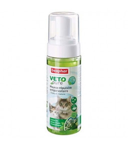 Mousse répulsive antiparasitaire Chats/Chatons 150 ml Beaphar